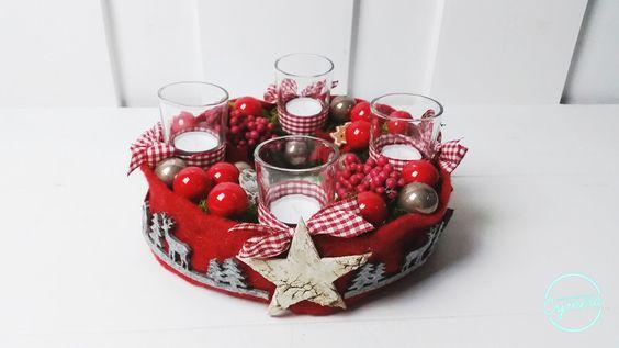 Adventskranz - Adventskranz Kranz Weihnachten - ein Designerstück von Floradina bei DaWanda