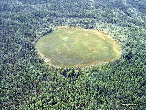 Tunguska. Over 100 years later, trees still don't seem to grow at the center.