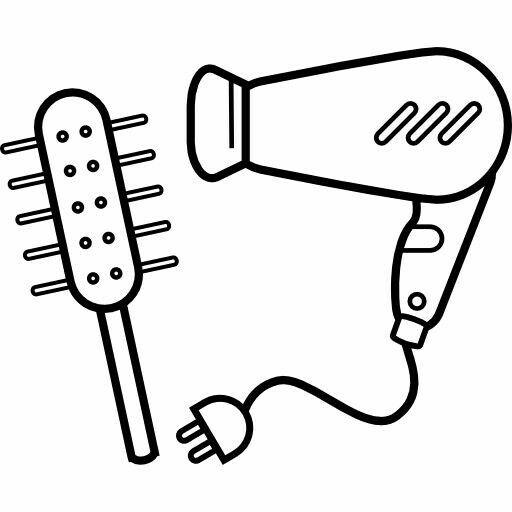 Cepillo De Peine Secadora Y Enchufe Dibujos De Peluqueria Dibujos Disenos De Unas