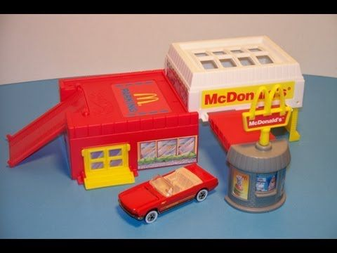 Mcdonald S Hot Wheels Sto And Go Play Set Toy Review Youtube Toys Playset Cool Toys