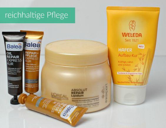 Riechtige Haarpflege für sehr strapazierte, gefärbte und  trockene Haare