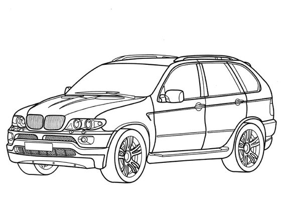 bmw x5 coloring page