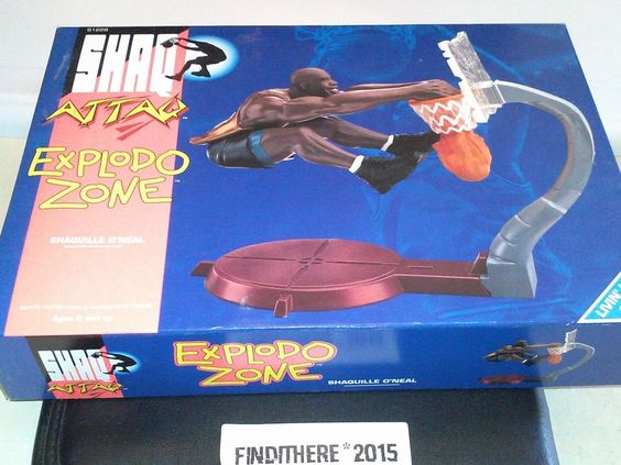 SHAQUILLE O'NEAL, SHAQ ATTACK TOY ACTION FIGURE EXPLODO ZONE 1994 VINTAGE #Kenner