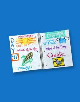 100 Days of school journal.  I adore this.