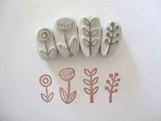 ���������������� stamp carving patterns simple printmaking for