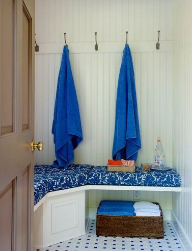 Great idea for a changing room for the pool area ~ In Good Taste:  Sullen Gregory Design