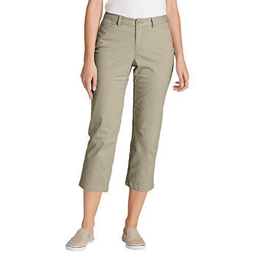 Eddie Bauer Women S Legend Wash Stretch Cropped Pants Curvy Fit Pantalones Mujer