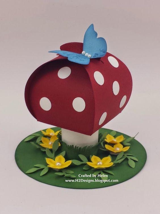 So Cute! - Curvy Keepsake Box Die Toadstool - Alternative ausprobieren mit Stanzer Gewellter anhänger (!?) als Oster-Goodie a la Würfel-Box