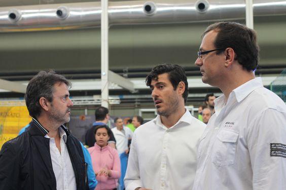 De izquierda a derecha: Porfi Fisac, Iñaki Malumbres y Juan Vela