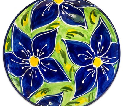 Spanish-ceramic-plate-blue-flowers-design-99044