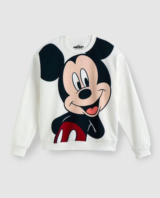 Sudadera De Mujer Cuello Redondo Y Print De Mickey Mouse Sudadera De Mickey Sudadera Mickey Mouse Mickey