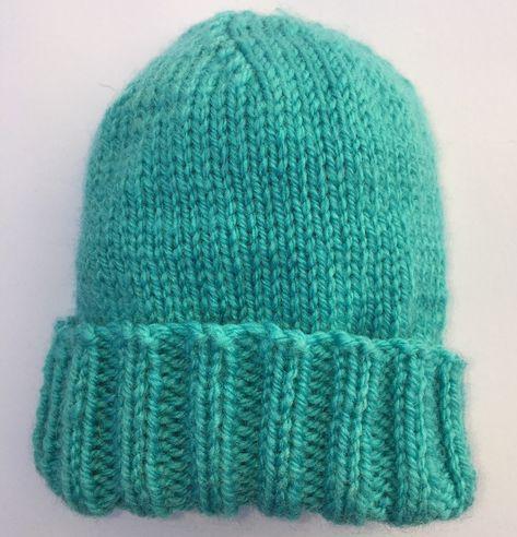 Free Knitting Pattern For Quick And Easy Baby Hat Includes Sizes 0 3 Months 3 6 Mon Knitting Patterns Free Hats Baby Hat Knitting Pattern Baby Hats Knitting