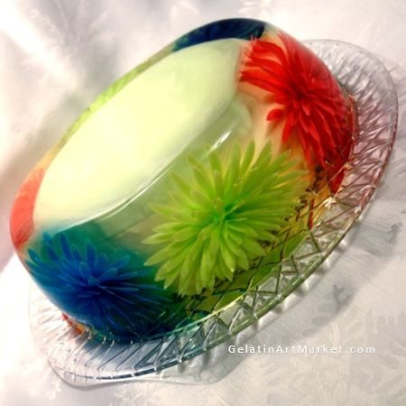 Cake Decorating Gelatin : Edible cake, Ice and Flower on Pinterest