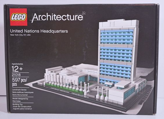 LEGO Architecture United Nations Headquarters Box Opened, Packages Sealed #LEGO