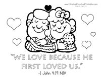 God tells us that we should love the LORD our God above all else, and that we should love our neighbors as ourselves. This is a set of adorable Valentine's Day coloring pages, each with their own Love theme Bible …