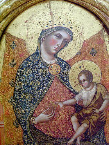 Madonna and child detail -  PAOLO VENEZIANO (1300 circa – 1365 circa)   #TuscanyAgriturismoGiratola