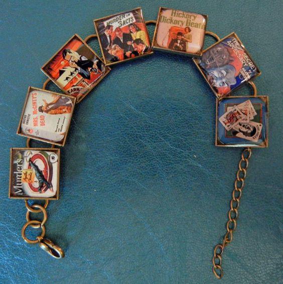 Agatha Christie Mystery Bracelet by SharisBitsandBobs on Etsy, $16.99