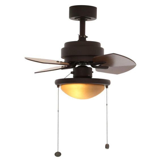 Hampton Bay Metarie 24 In Indoor Oil Rubbed Bronze Ceiling Fan With Light Kit Al508 Orb The Home Depot Ceiling Fan Bronze Ceiling Fan Ceiling Fan With Light