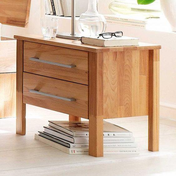 Nachttisch Dionassa mit 2 Schubladen | Pharao24.de