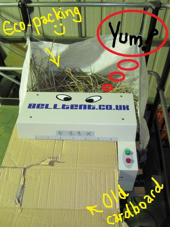 Our Eco-friendly packaging shredder. He needs a name any cool shredder about town would be proud of. Suggestions please to... http://www.facebook.com/belltentuk