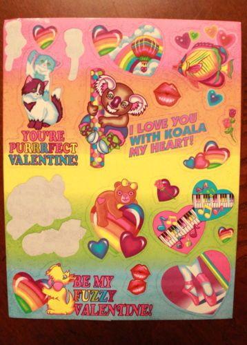 Vintage Lisa Frank Stickers S229 Valentine Love Koala Hearts | eBay