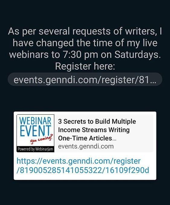 Livewebinar Digitalwritopreneurs Timechanged Registerforwebinar Clicklinkinbio Content Writing Webinar Writing