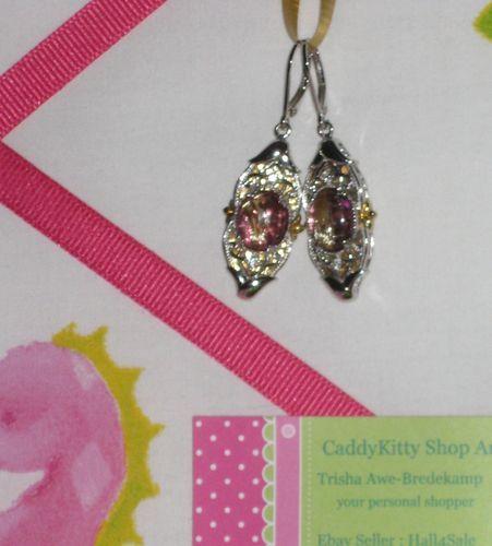 Gems En Vogue II Sterl Pall Rutilated Quartz Amethyst Doublet Earrings Pierc   eBay