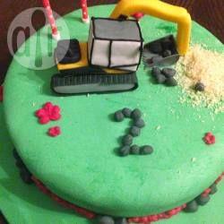 baggertorte bagger kindergeburtstag junge baggerkuchen baustelle kuchen. Black Bedroom Furniture Sets. Home Design Ideas