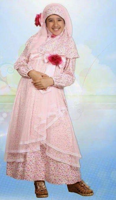 Contoh desain baju muslim anak baju muslim anak Contoh baju gamis anak