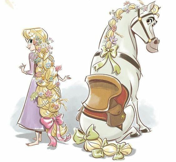 馬とラプンツェル