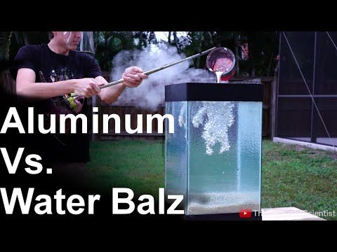 What Happens When You Pour Molten Aluminum Into A Tank Full Of Water Polymer Beads? - Digg -- so cool