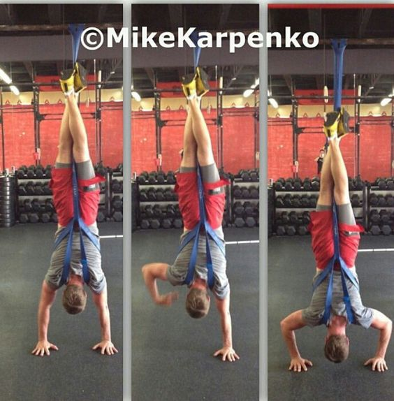 Great idea for Practicing hands stands