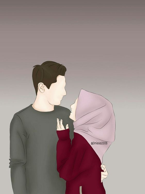870 Gambar Kartun Muslimah Couple Terbaru