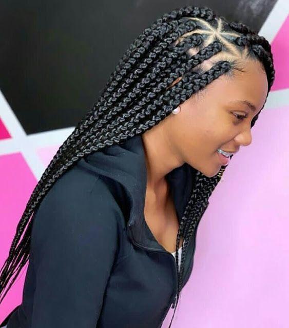 Trendy 2019 Braided Hairstyles Beautiful Braiding Box Braids Cornrows And Weaves For Y Box Braids Hairstyles For Black Women Hair Styles Box Braids Styling
