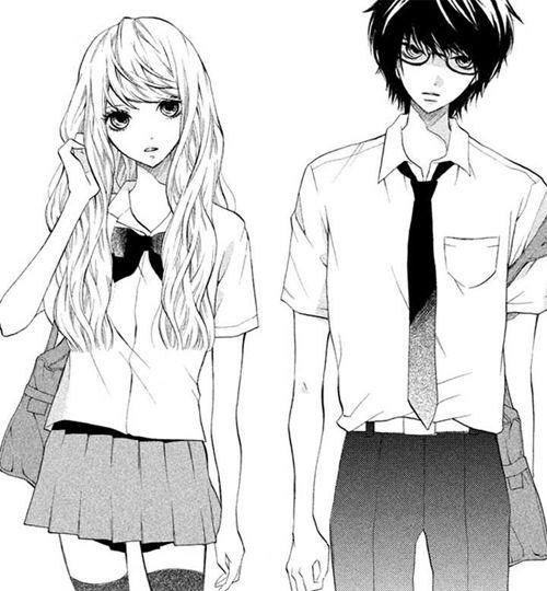 аниме девочка и мальчик картинки