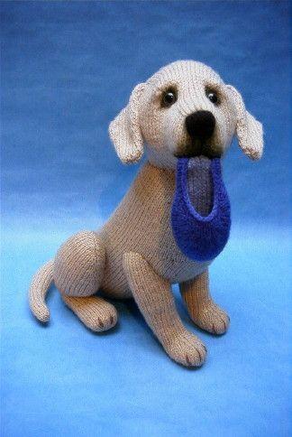 Alan Dart Knitting Pattern: Labrador Retriever dog