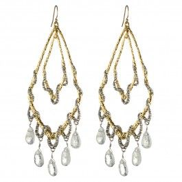 Maldivian Orbiting Tear Chandelier Earring