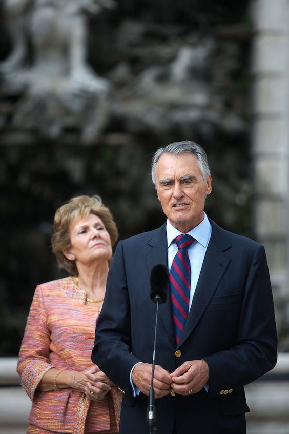 Cristina Ferreira com Cavaco Silva