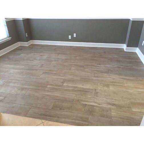Amazingtile Ocala 8 X 33 Porcelain Wood Look Tile Wayfair Wood Look Tile Flooring Kitchen Decor Inspiration