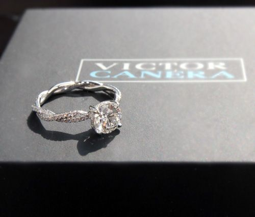 Jewel of the Week - Love Entwined: Custom Diamond Engagement Ring | PriceScope