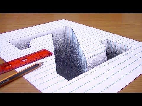 رسم حرف Z ثري دي 3d محفور على الورقة خدع بصرية ثري دي Youtube Youtube The Originals Card Holder