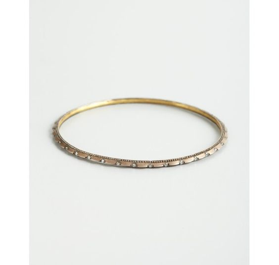 Gurhan gold and diamond 'Capitone' pointed edge bangle