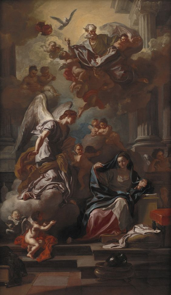 Francesco Solimena – Annunciazione, dopo 1733 – Photo by Statens Museum for Kunst / National Gallery of Denmark