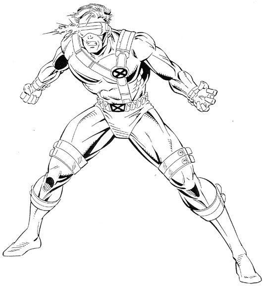 Disney Robots Coloring Pages X Men Coloring Cyclops 1 50k Coloringpages Superhero Coloring Superhero Coloring Pages Marvel Coloring