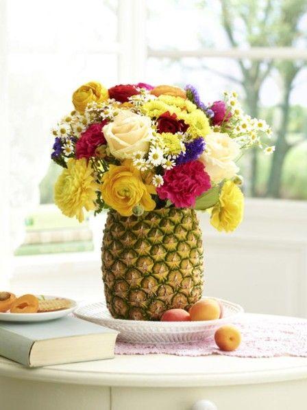 diy-tipp: wir basteln aus einer ananas eine vase   basteln und, Hause und Garten