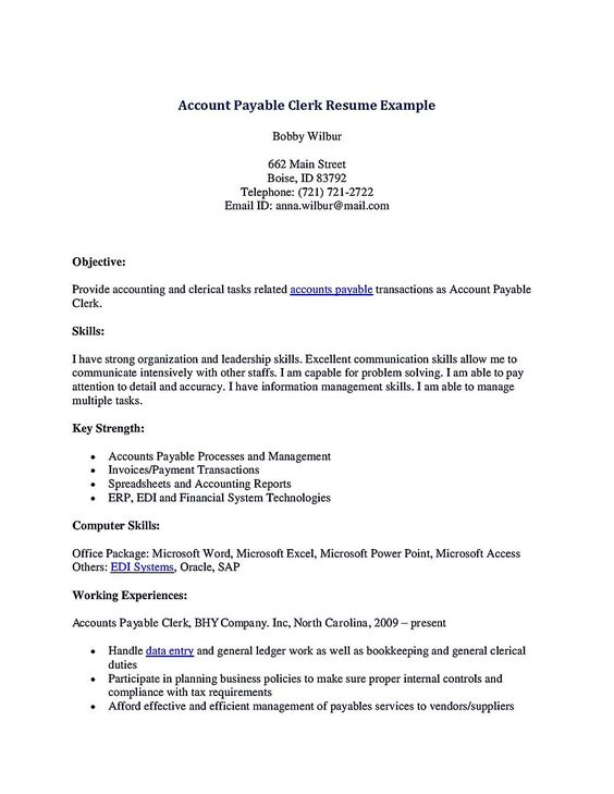 sample resume for accounting assistant make accounts clerk - Clerical Duties