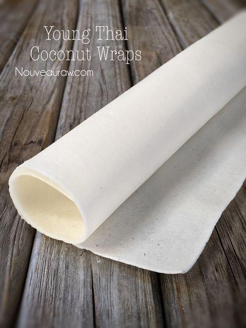Young Thai Coconut Wraps ( raw, vegan, nut-free )