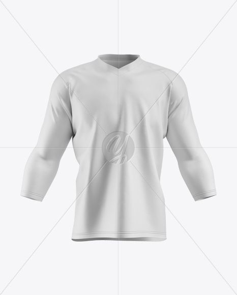 Download Men S Trail Jersey 3 4 Sleeve In Apparel Mockups On Yellow Images Object Mockups Clothing Mockup Sleeves Apparel