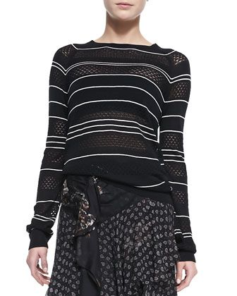 Long-Sleeve+Knit+Striped+Silk+Pullover+Sweater+by+Jason+Wu+at+Neiman+Marcus.