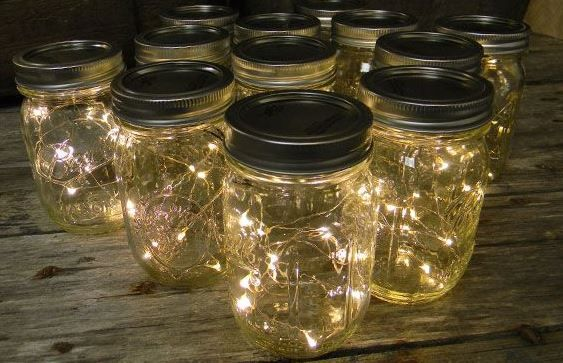 Brighten Up Your Home This Christmas With These Homemade Fairy Light Jars Beautiful Fairy Lights In A Jar Mason Jar Fairy Lights Jar Lights